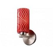 aniba Design Lampe murale avec verre design rouge Argenté/Blanc/Rouge 1 flamme