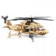 Sluban | Stavebnice vrtulníku BLACK HAWK v pouštním provedení