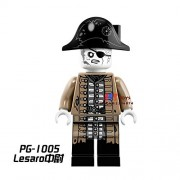 Generic 50pcs Star Wars Pirates of The Caribbean Tales Lesaro Captain Models Building Block Bricks for Children Toys brinquedos menina PG1005