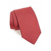Eton Geometric Silk Tie PINKRED