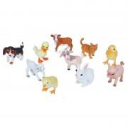 Geen 10x Boerderijdieren baby dieren speelgoed figuren