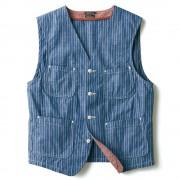 ストライプシャンブレー・ベスト サニースポーツ トップス 【ライトアップショッピングクラブ】