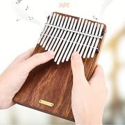 HITSAN INCORPORATION LINGTING LT-K17P 17 Keys Rosewood Plate Africa Kalimba Thumb Piano with Pick UP