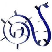 Kartell Bookworm wandplank 17 boeksteunen kobaltblauw doorzichtig