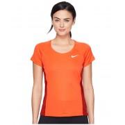 Nike Dry Miler Short Sleeve Running Top Max OrangeDark Cayenne
