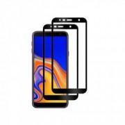 Set 2 folii protectie sticla securizata fullsize pentru Samsung Galaxy J4 Plus 2018 negru