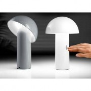 Sompex Svamp LED Tischleuchte, Leseleuchte mit Akku, dimmbar, 25 cm, grau