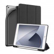 DUX DUCIS OSOM Series Tri-fold Stand Leather Tablet Cover with Pen Holder for iPad 10.2 (2019) - Black