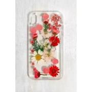Recover - Coque pour iPhone XR fleurs séchées rouge- taille: ALL