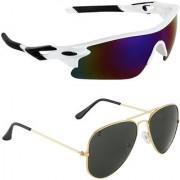Zyaden Combo of 2 Sunglasses Sport and Aviator Sunglasses- COMBO 2778
