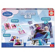 Superpack Frozen - 2 x puzzle, memo game, domino