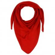 Les Poulettes Bijoux Echarpe 100% Cachemire 2 Fils Triangle Classics - Rouge Profond