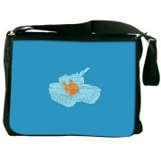 Goldfish In A Tank Bowl Digitally Printed Laptop Messenger Bag