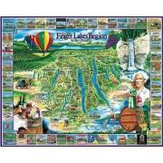 White Mountain Puzzles Finger Lakes 1000 Piece Jigsaw Puzzle
