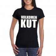 Bellatio Decorations Volkomen kut tekst t-shirt zwart dames
