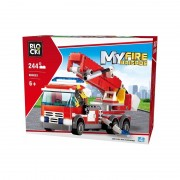 Joc constructie Blocki, Camion pompieri cu macara, 244 piese