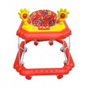 Oh Baby Baby Square Shape Pilastic Boby Red Color Music With Light Walker For Your Kids SE-W-59