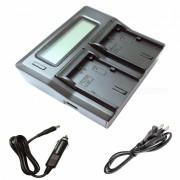 Ismartdigi LPE6N LCD Dual Slot Cargador de bateria para Canon LP-E6N