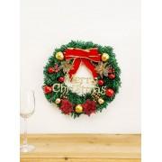 Rosegal Sapin de Noël Décoration de Porte avec Nœud Papillon