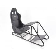 FK-Automotive sedile simulazione di corsa per giochi elettronici (computer o console di gioco) similpelle nero