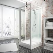 Schulte Home Cabine de douche intégrale Juist, 80 x 80 x 190 cm