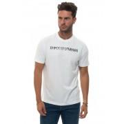 Giorgio Armani T-shirt girocollo Bianco Cotone Uomo