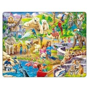 Puzzle Gradina Zoologica, 48 Piese Larsen
