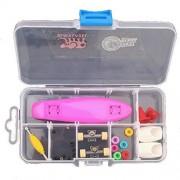 Remeehi Finger Skateboard With Storage Box Mini Finger Skateboard Set Educational Toys Sets Great Gift For Kids Mini Fingertip Skateboards Purple