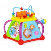 TryoKart Huile Toys Baby Toy Musical Activity Cube Play Center Toy with 15 Functions & Skills Learning Educational Toys for Children - Happy Small World