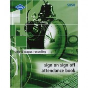 ZIONS SIGN ON SIGN OFF ATTENDANCE BOOK 260 X 200MM 264 PAGE