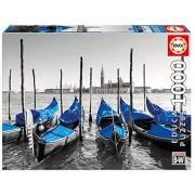 Educa Children's 1000 Gondolas in Venice Coloured Black & White Puzzle (Piece)
