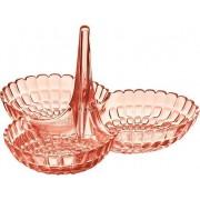 Miseczka na przekąski Tiffany potrójna jasnoróżowa