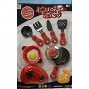 Reggeliző konyhai játékszett, 10 darabos