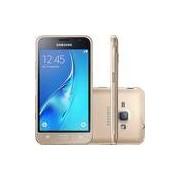 Smartphone Samsung Galaxy J1 2016 Dual Chip Android 5.1 Tela 4.5 8GB Wi-Fi 3G C�mera 5MP - Dourado