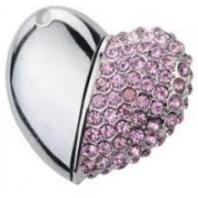 Microware Heart Shape Designer 8gb Pendrive 8 GB Pen Drive(Pink)