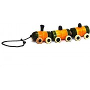 Wooden Organic Vegetable Colors Pull Along Train (Multi-Color) Non-Toxic, 26 cms