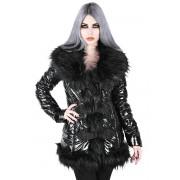 kabát dámský KILLSTAR - Lucine Puff - BLACK - KSRA000519