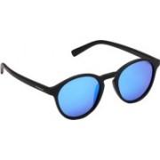 Polaroid Oval Sunglasses(Blue)