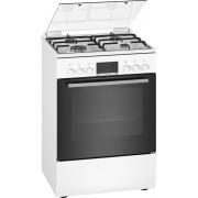 Bosch Serie 4 HXN390D20 Vrijstaand fornuis Gaskookplaat A Zwart, Roestvrijstaal, Wit fornuis