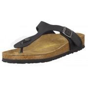 Birkenstock Gizeh Regular Black Leather, Skor, Sandaler & Tofflor, Flip Flops, Brun, Dam, 41