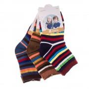 E5001-1 3 pár gyerek zokni sokszínű