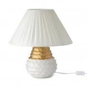 Hervit Creations Lampada in gres bianco ed oro media