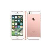 "iPhone SE Apple com 128GB, Tela 4"", iOS 9, Sensor de Impressão Digital, Câmera iSight 12MP, Wi-Fi, 3G/4G, GPS, MP3, Bluetooth e NFC – Ouro Rosa"