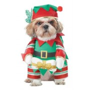 CALIFORNIA COSTUME COLLECTIONS Elf Pup Dog Costume, X-Small