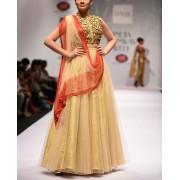 Beautiful Pink & Gold Lehenga Choli