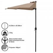 Чадър за слънце [casa.pro]® , полукръг, за стена 300 x 150 x 30 cm, Бежов