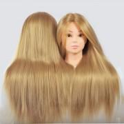 Cap Manechin cu Par Natural Blond + Cadou Suport