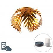 QAZQA Smart plafondlamp goud 24 cm incl. ST64 wifi - Botanica