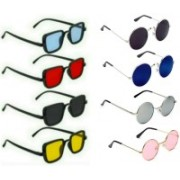 EDDYFASHIONHUB Round, Rectangular Sunglasses(Silver, Blue, Black, Pink, Red, Yellow)