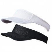 Cotton Sunhat Beach Baseball Visors Tennis Mens/Women's Cap Pack of 2 Black White